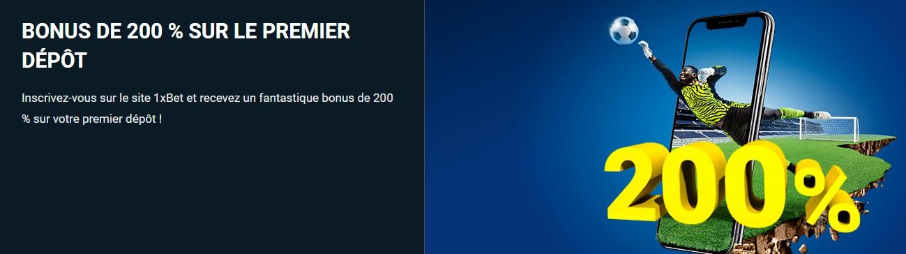 bookmaker pari sportif compte 1xBet